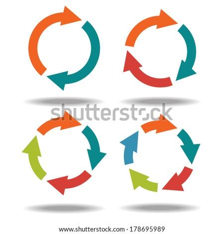 Vector Circle Arrows Infographic Template Diagram Stock Vector ...