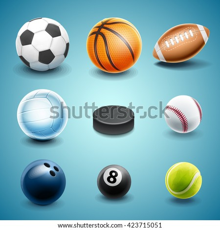set icons for sport - stock vector