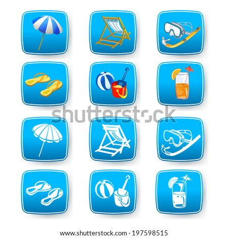 set icons with rest. vector illustration  - stock vector