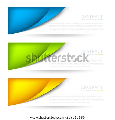 Set label vector background objects curve line with blue green and orange color on white space for text and message modern artwork design , vector paper - stock vector