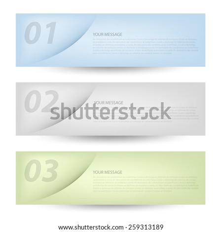 Set label vector background objects curve line with earth tone blue green and grey color on white space for text and message modern artwork design , vector paper - stock vector