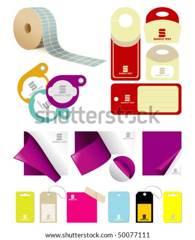 set labels - stock vector
