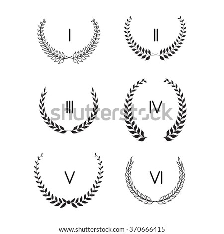 Set laurel wreath vector - stock vector
