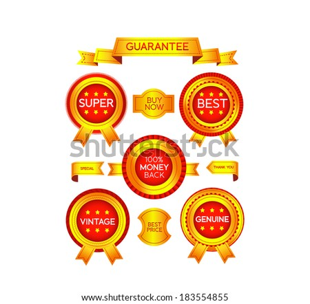 Set luxury labels and badges for sale - stock vector