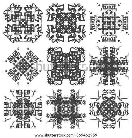 Set Mandalas. Round Ornament Pattern. Vintage decorative elements. - stock vector