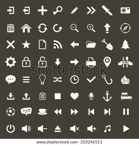 Set media icons for web design.