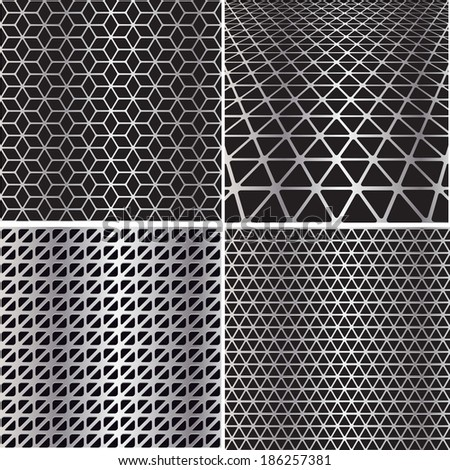 Set metal grids.  - stock vector