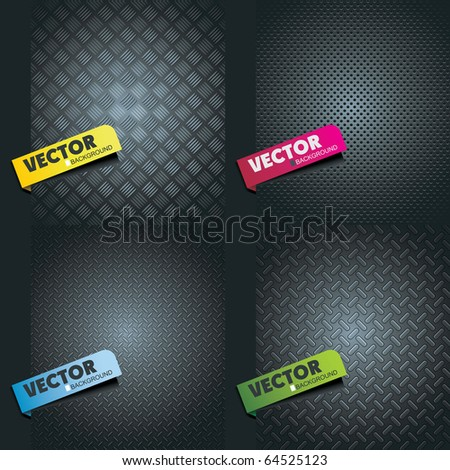 set metal texture - stock vector