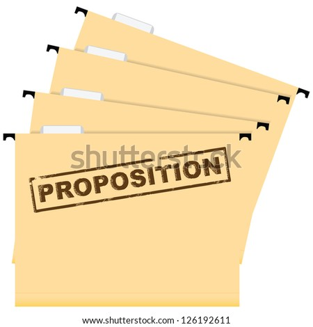 Set mounted folder with documentation. Business Proposal. Vector illustration.