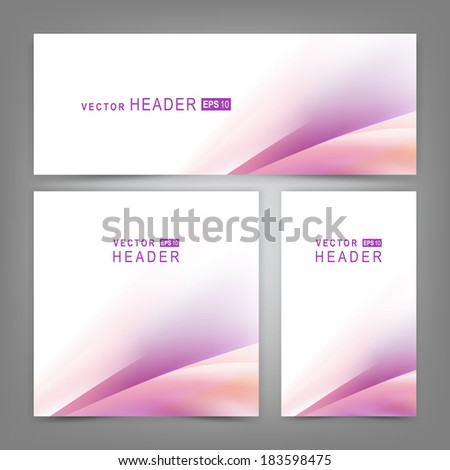 Set o colorful vector banners or business card with abstract lines.  Vector illustration - stock vector
