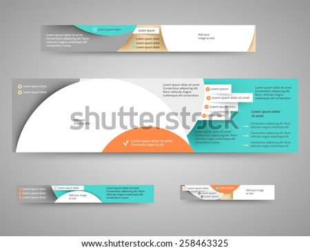 Set of abstract advertising banners for your blog or website - stock vector
