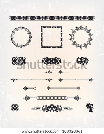 set of abstract arabesque pattern - stock vector