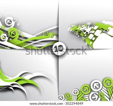 Set of Abstract background element vector design. - stock vector