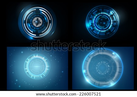 Set of Abstract Background technology design vector Illustration - stock vector