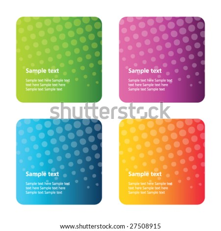 Set of abstract backgrounds - stock vector