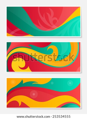 Set of abstract backgrounds for website, banners or identity.