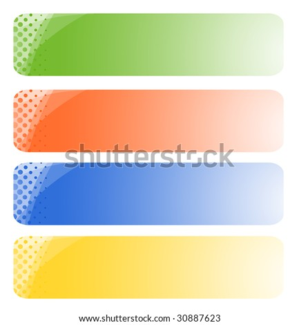 Set of abstract banners. Vector-Illustration - stock vector
