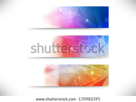 Set of abstract business cards. Vector illustration - stock vector