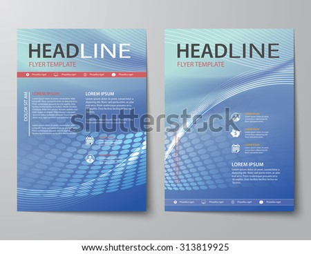 set of abstract business magazine cover , flyer, brochure flat design template - stock vector
