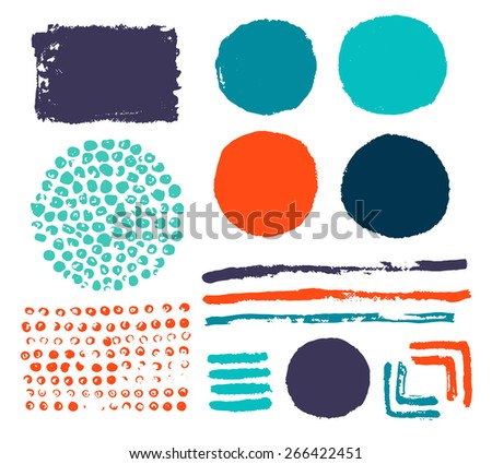 Set of abstract color elements. - stock vector