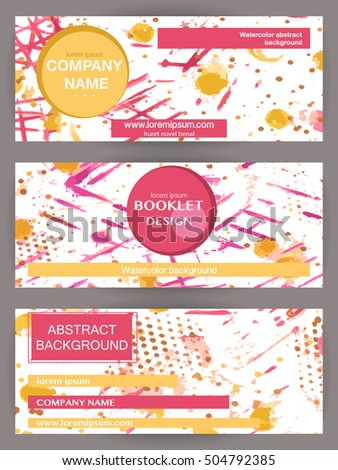Set of abstract colorful background banners, posters, booklets for modern design