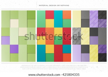 set of abstract, colorful backgrounds. vector geometric, fashion wallpapers template. material design backdrops collection. origami style, vector, business cards layout