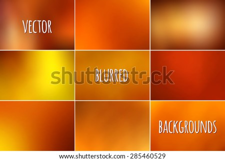 Set of abstract colorful blurred vector backgrounds.  - stock vector