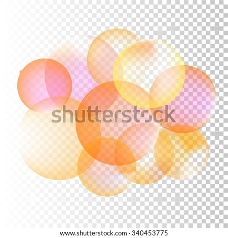 set of abstract colorful bubbles with place for text - stock vector