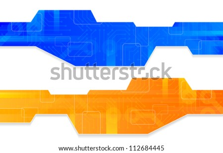 set of abstract computer circuit board - stock vector