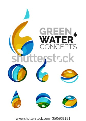 Vector logo design template glossy sun stock vector for Modern cleaning concept