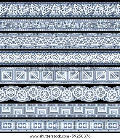 Set of abstract editable vector stripe designs