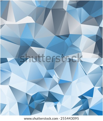 Set of abstract geometrical backgrounds consisting of multicolored triangular polygons