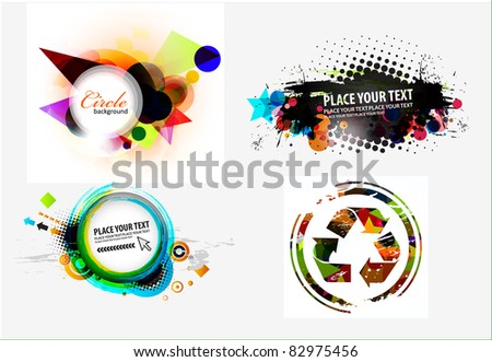 Set of abstract grunge stylish banners design. - stock vector