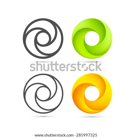 Set of abstract Infinite loop template, Infinite loop icon, Logo spiral set, Vector Illustration - stock vector