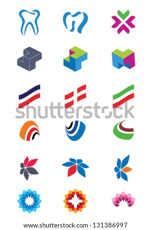 Set of abstract logos. Icons for any type of business. Vector.