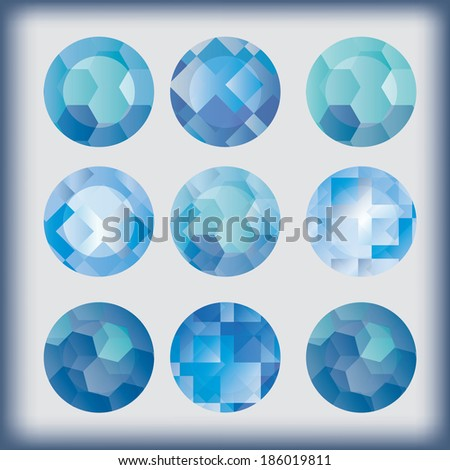Set of abstract modern elements. Vector.