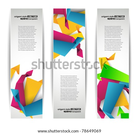 Set of abstract modern header banner for flyer or website - stock vector