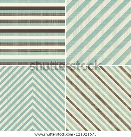 set of 4 abstract retro seamless patterns - stock vector