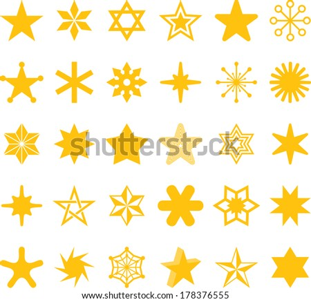 Set of abstract STARS - stock vector