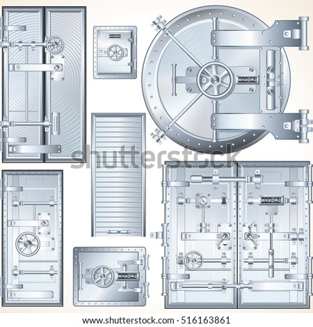 Set of Abstract Steel Vault Doors. Finance and Business Concept. Vault Door  sc 1 st  Shutterstock & Vaulted Door Stock Images Royalty-Free Images \u0026 Vectors ...