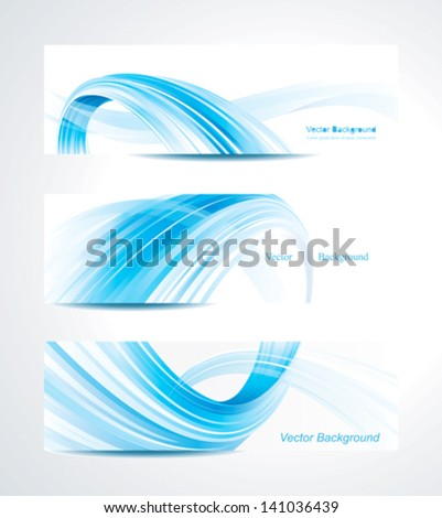 Set of abstract technology header background. - stock vector