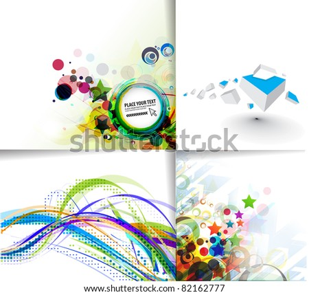 set of abstract vector background - stock vector