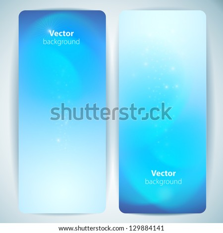 Set of abstract vector banners. - stock vector
