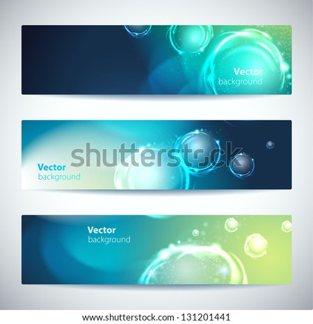 Set of abstract vector banners or headers. - stock vector