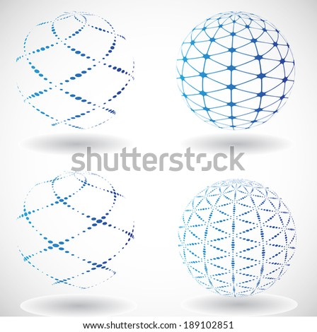 Set of abstract vector spheres