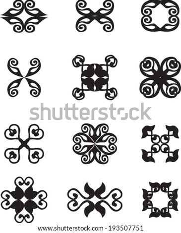 Set of abstract vintage symbols