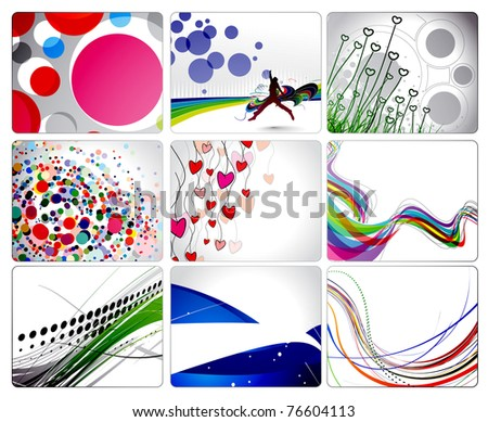set of abstract wave line with space of your text, vector illustration - stock vector