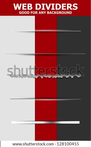 Set of abstract web dividers - stock vector