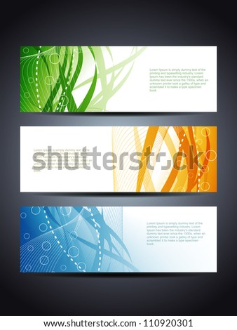 set of abstract web header/banner designs - stock vector
