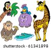 Set of African animals 2 - vector illustration. - stock photo